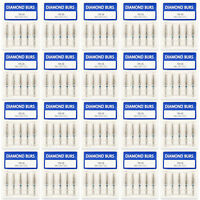 100 pcs Dental Diamond Burs for High Speed Handpiece Medium FG 1.6mm TR-15 20BOX