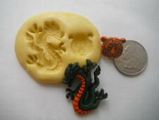 Dragon & Tiger Head Flexible Silicone Mold-for polymer clay, wax, etc.