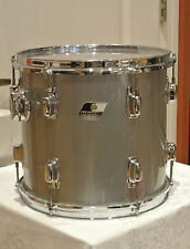 """EXPAND Your DRUM SET! 80s LUDWIG USA ROCKER II 12"""" SILVER GRAY POWER + TOM #G424"""