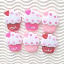 "US SELLER - 12 pcs x (1 1/8"") Resin Ice Cream Flatback Beads/Sweet/Cupcake SB531"