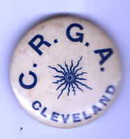Early 1900s pin C.R.G.A. CLEVELAND pinback button
