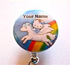 UNICORN & NURSE HELLO KITTY ID Badge retractable reel Nurse, Medical,L & D. RN