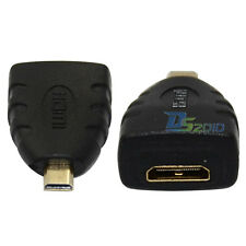 1pc Micro HDMI Male Plug D Type to Mini HDMI Female Jack Cable Connector Adapter