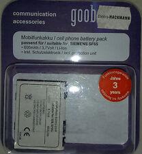 76638 mobilfunkakku Goobay pour Siemens sf65 Li-ion 3,7 V 600 mAh