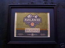 BRECKENRIDGE  AVALANCHE  AMBER  ALE  BEER SIGN  #99