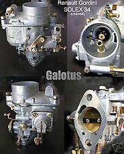 RENAULT FLORIDE/CARAVELLE Carburetor 34 model - Solex type - NEW RECENTLY MADE