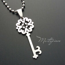 Titanium Steel key pendant necklace - A