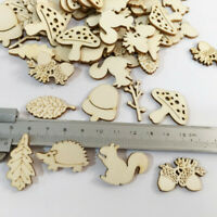 50x Squirrel Hedgehog Wooden MDF Cardmaking Hanging Ornament Embellishment Craft