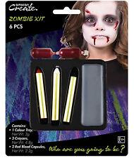 Zombie Peinture Visage & Sang Maquillage de Scène Déguisement Halloween