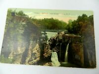 Vintage Postcard Triphaminer Falls from Bridge Ithaca NY Scenic View 1916
