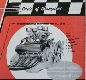Original 1956 HOT ROD & Custom Catalog Ford Drag Racing scta Dirt Track Vintage