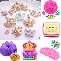 Silicone 3D Crown Cake Fondant Mold Chocolate Lace Decorating Baking Mold Tool