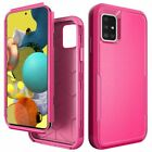 For Samsung A51 5G Tuff Anti-Slip Hybrid Shockproof Cover Case+Tempered Glass