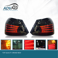 Smoked LED Tail Lights Lamps Smoke For Toyota Yaris NCP93 2007-2011 Sedan