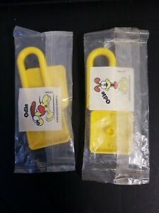 Kellogg's Cereal Premium Garfield Yellow Odie Twist Pad Lock 2X