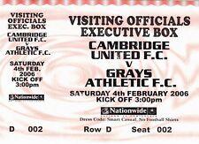 Ticket - Cambridge United v Grays Athletic 04.02.06