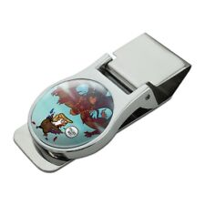 Trump Trade War with China Red Dragon Chrome Metal Money Clip