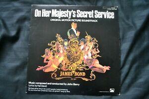 Vinyl 12 inch Record Movie Soundtrack James Bond On Her Majesty's Secret Service