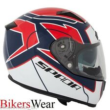 SPADA Arc Puzzle Red/Blue Cheap Full Face Motorcycle/Motorbike helmet