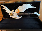 Musoo brand hand carved electric guitar New Angel design with hard case for sale