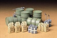 35186 Tamiya German Fuel Drums 1/35th Plastic Kit Assembly Kit 1/35 Military