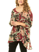 Crinkle Shirt Longshirt Bluse Tunika Ulla Popken 46 48 50 52 56 58 60 66 68