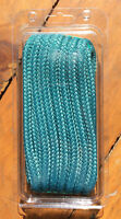 "Seachoice Double Braided Boat Marine Nylon Dock Line Rope 1/2"" x 15' Teal 39791"