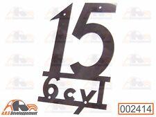 MONOGRAMME NEUF INOX pour coffre malle aile Citroen TRACTION 15  -2414-