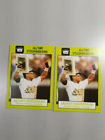 """Lot of 2 Rickey Henderson - """"RARE""""  All Time Stolen Base King"""