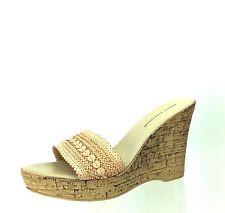 Women's Shoes Athena Alexander Natural Color Platform Wedges Size 41 M NEW