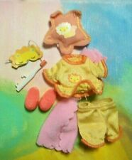 Kelly Doll Clothes *Mattel Kelly Bunch Yellow Lion Pajama Set Slippers & Accs*