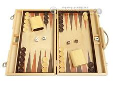 "15"" Classic Wood Backgammon Set - Oak - Backgammon Board Game 