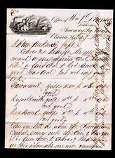 1875 Elmira NY - Wm J Dounce - American Pig Metals - SUPERB Letter Head Rare
