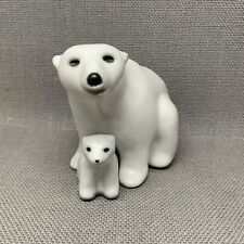 Pod Studio of Edgecomb Maine Polar Bears Mom and Cub Set of Two Pieces