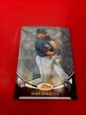 2010 Topps Finest MIKE STANTON RC Blue Refractor #'d 4/199 - NEW YORK YANKEES