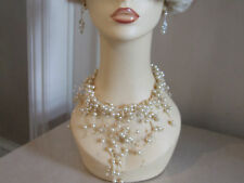 Wonderful +Slightly Whacky Pearl Necklace Wild Choker One Off Chain Gift Wrapped