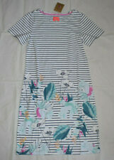 Joules Printed Short Sleeve Jersey Dress 6 in Palm Stripe 100% Cotton