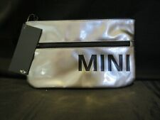 Authentic BMW Mini Cooper Tablet Pouch, Ladies Clutch, Glossy Silver Color
