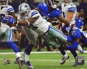 EZEKIEL ELLIOTT DALLAS COWBOYS 2016 FIRST NFL CAREER TOUCHDOWN 8X10 PHOTO