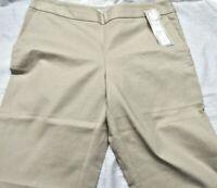 Charter Club Capri Pants Size:6 Petite Fashion Pants Color/Sand Side Zipper