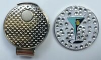NEW Ladies Crystal Martini Golf Ball Marker + Free Magnetic Hat Clip