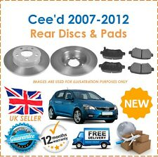 For Kia Cee'd 1.4i 1.6i 1.6 2.0DT CRDi 2007-2012 2 Rear Brake Discs & Disc Pads