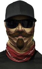 MOTORCYCLE FACE MASK - WESTERN GANGSTER - (Moto, Hunting, Fishing, Paintball)