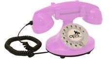 Opis FunkyFon Retro Festnetz-/ Tischtelefon mit Wählscheibe Stil 1920er pink