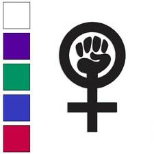 Woman Power Feminist Decal Sticker Choose Color + Size #755