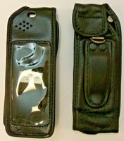 2 X Ericsson A1018/A1018S Black Leather Cases for Retro Mobile Phones