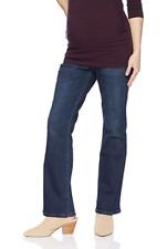 Gap Maternity Stretch Flare Jeans Denim Dark Wash Full Panel Size 30 / 10 A