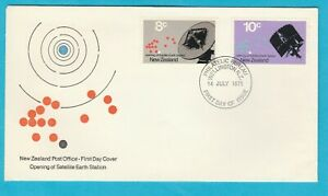 NZ New Zealand Opening Satellite Earth Station First Day Cover 1971