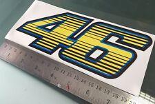 """Rossi número 46 """"distorsionada Rayas Pegatina Calcomanía"""" (200 Mm x 80 Mm)"""