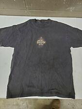 Vintage 1990s No Fear Black T Shirt Ace of Spades Flames Skater Mens Xl Holes